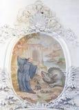 Fresco en basílica del St Mang en Fussen, Baviera, Alemania Foto de archivo libre de regalías