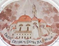 Fresco en basílica del St Mang en Fussen, Baviera, Alemania Fotos de archivo libres de regalías