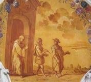 Fresco en basílica del St Mang en Fussen, Baviera, Alemania Fotografía de archivo