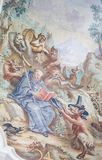 Fresco en basílica del St Mang en Fussen, Baviera, Alemania Imagen de archivo