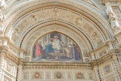 Fresco en el Duomo Florencia, Italia de IL Foto de archivo