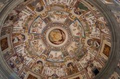 Fresco en el palacio de Farnese, Caprarola, Italia Foto de archivo libre de regalías