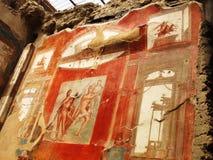 Fresco en Herculano Imagen de archivo