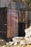 Fresco en la ciudad vieja de la barra, Montenegro Fotografía de archivo