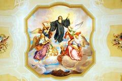 Fresco en la iglesia de San Pedro y de Paul en la abadía de Melk Imagen de archivo