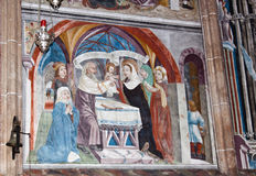 Fresco en la iglesia del peregrinaje de Maria Schnee, Austria Imagen de archivo libre de regalías
