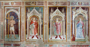 Fresco from Florence church - San Miniato al Monte Stock Images