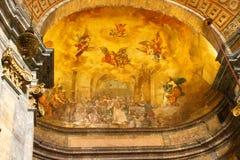 Fresco in Girona stock photo