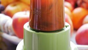 Fresco: haciendo las frutas y las bayas sanas smoothie con la licuadora metrajes