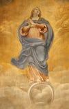 fresco heliga mary rome arkivbilder