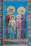 Fresco icon of the saints Faith, Hope, Charity and their mothe Stock Photos