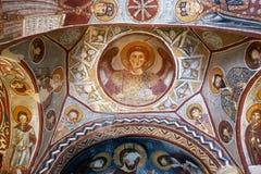 Fresco, iglesia de la roca en Cappadocia, Turquía, Oriente Medio Fotografía de archivo libre de regalías