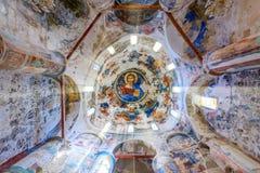 Fresco, iglesia en las montañas del kyrenia, Chipre septentrional del katharon de la tonelada de Panayia Fotografía de archivo