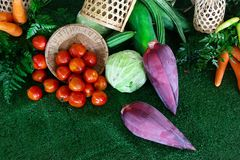 Fresco inclua vegetais imagem de stock royalty free