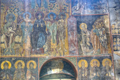 Fresco inside the Akhtala monastery Stock Photo