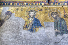 Fresco inside the Hagia Sophia Royalty Free Stock Photos