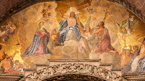 Fresco of Jesus Stock Images