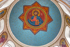 Fresco of Jesus Christ on dome Stock Image