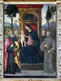 Madonna with the Child and saints Royalty Free Stock Photo
