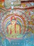 The fresco in Maharaja Cave of Dambulla Stock Images