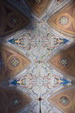 Fresco majestosos no teto de Palazzo Litta em Milão fotos de stock