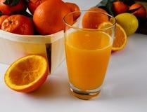 Fresco mediterráneo del zumo de naranja exprimido imagen de archivo