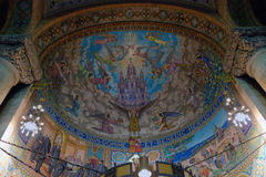 Fresco mosaic in church stock image