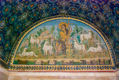 Fresco Mosaics in Ravenna Royalty Free Stock Photo