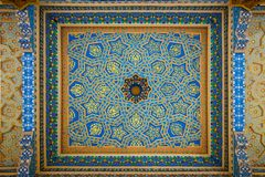 Fresco on Mosque Ceiling Royalty Free Stock Image