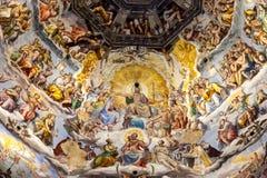 Fresco na cúpula de Santa Maria Del Fiore, Florença, Itália fotografia de stock royalty free