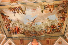 Fresco no cofre-forte do salão Capitular no monastério de Strahov, Praga Foto de Stock