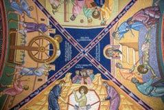 Fresco no monastério Fotografia de Stock