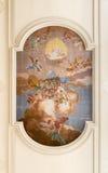 Fresco no teto da igreja de Saint Anthony Abbot Imagens de Stock