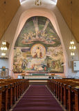 Fresco over altar of Rovaniemi Church. Stock Photos