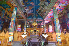Fresco på den grekiska ortodoxa kloster Royaltyfria Foton