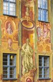 Fresco painting in Bamberg Royalty Free Stock Photo