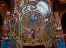 Fresco paintings of the Pantocrator Royalty Free Stock Image