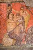 Fresco in Pompeii stock photo