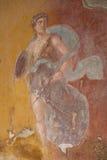 fresco pompeii Royaltyfri Bild