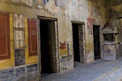 Fresco in Pompeii house Royalty Free Stock Image