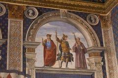Fresco por Domenico Ghirlandaio em 1482 do dei Gigli de Sala em Palazzo Vecchio, Florença, Toscânia, Itália Imagens de Stock