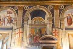 Fresco por Domenico Ghirlandaio em 1482 do dei Gigli de Sala em Palazzo Vecchio, Florença, Toscânia, Itália Fotografia de Stock