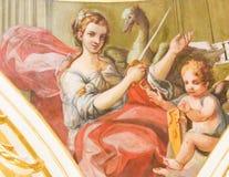 Fresco que descreve justiça em Valência Foto de Stock Royalty Free