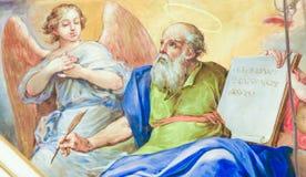 Fresco que descreve Matthew o evangelista Foto de Stock Royalty Free