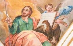 Fresco que descreve St John o evangelista Imagens de Stock Royalty Free