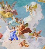 Fresco que descreve Virtues cardinal em Stift Melk, Áustria Fotografia de Stock Royalty Free