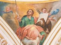 Fresco que representa St John el evangelista Fotografía de archivo libre de regalías