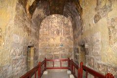 Fresco at Quseir (Qasr) Amra desert castle near Amman, Jordan Stock Images