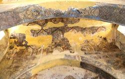 Fresco at Quseir (Qasr) Amra desert castle near Amman, Jordan Royalty Free Stock Photography