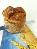 Fresco, redondo, pan en el fondo blanco imagen de archivo libre de regalías